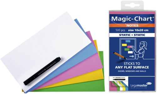 Magic-chart notes Legamaster 10x20cm assorti