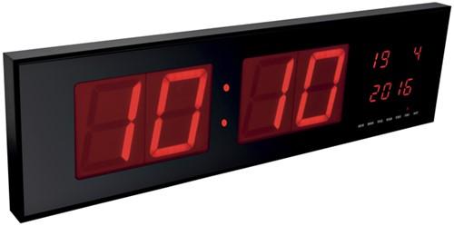 Wandklok Perel met LED display