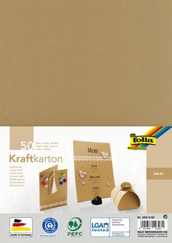 Kraftpapier Folia din A4 230gr pak à 50 vel