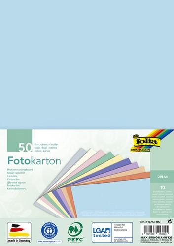 Fotokarton Folia pastel din A4 ass