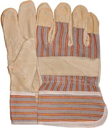 Varkensnerflederen Handschoen Met Gestreept Doek 10