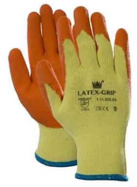 Latex-Grip Handschoen Oranje/geel 9