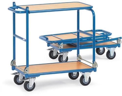 Opklapbare tafelwagen KW 14 Laadvlak 900 x 600 mm