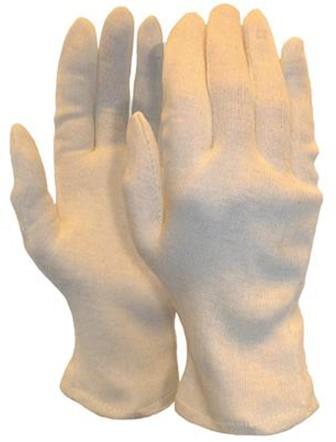 Interlock Handschoen, Herenmaat Zware Kwaliteit (225 Grams) Écru 10