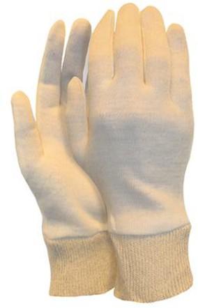 Interlock Handschoen, Herenmaat Met Manchet (325 Grams) Écru 10