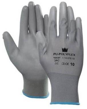 PU-Polyflex Handschoen Grijs 10