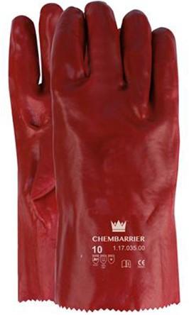 Handschoen PVC Rood, 350 Mm Rood 10