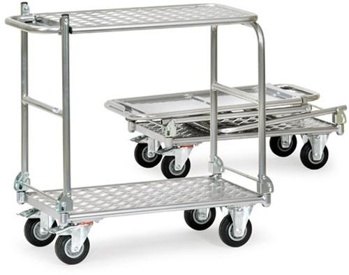 Opklapbare tafelwagen KW 5 - Alu Laadvlak 720 x 450 mm