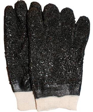 PVC Grit Handschoen Zwart 10