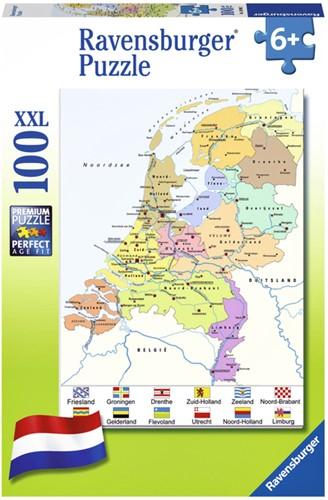 Puzzel Ravensburger Nederlandse kaart 100 stukjes