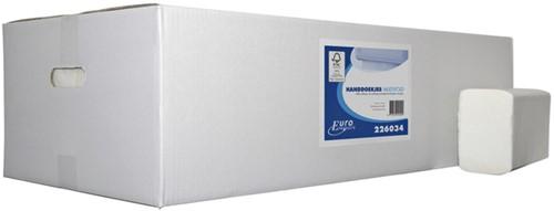 Handdoek Euro M-fvouw 2L 32x21cm 3000st