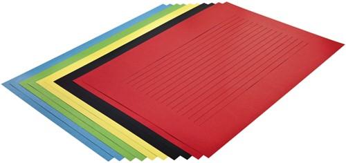 Vlechtstrokenpapier Folia 130g/m² 35x50cm assorti pak à 10 vel
