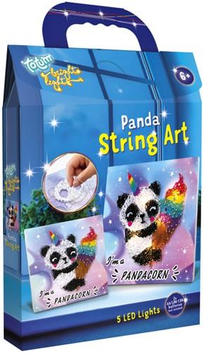 Knutselset Totum String Art bright lights panda