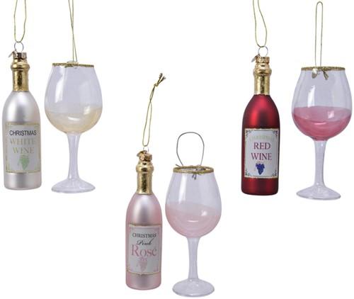 Kersthanger cadeauset wijn assorti