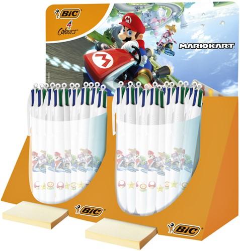 Balpen Bic 4kleuren Mario Kart