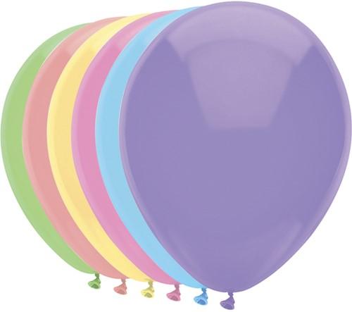 Ballon Haza uni 30cm 100 stuks pastel assorti