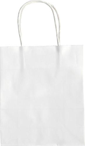 Papieren zakjes met handvat 110g/m² 18x21x8cm kraft wit set à 20 stuks