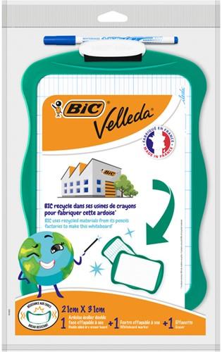Whiteboard Bic Velleda recycled 21x31cm + stift + wisser