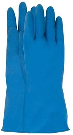 Latex Huishoudhandschoen Blauw 10 - 300 mm