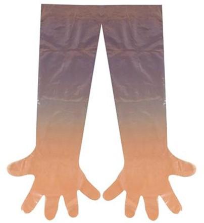 Veterinaire Polyethyleen Handschoen Rood 10
