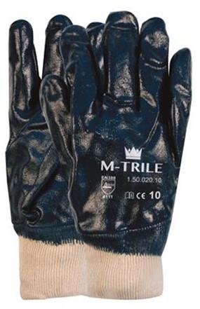 NBR M-Trile 50-020 Handschoen Blauw/wit 8