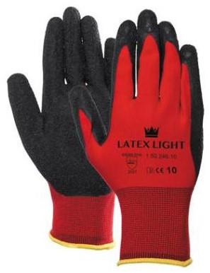 Latex Light Handschoen Zwart/rood 7