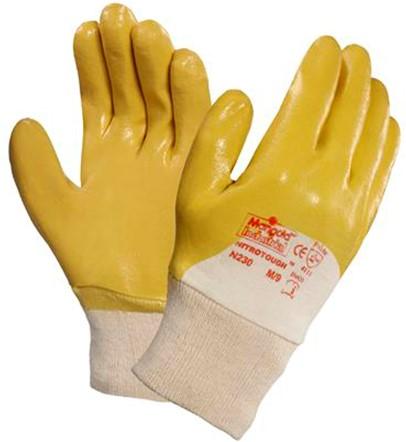 Ansell Nitrotough N230Y Handschoen Geel/wit 8