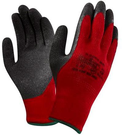 Ansell K2000BR Handschoen Zwart/rood 9
