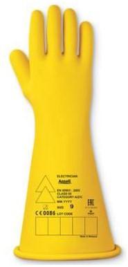 Ansell Electrician E015Y Handschoen Geel 8