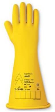 Ansell Electrician E015Y Handschoen Geel 10