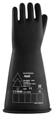 Ansell Electrician E014B Handschoen Zwart 9