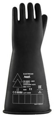Ansell Electrician E016B Handschoen Zwart 8