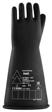 Ansell Electrician E016B Handschoen Zwart 11