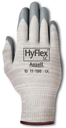 Ansell HyFlex 11-100 Handschoen Grijs/wit 9