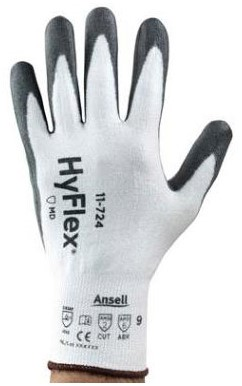 Ansell HyFlex 11-724 Handschoen Wit/grijs 6
