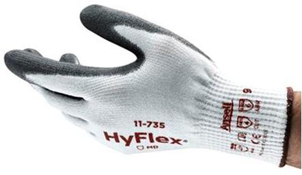 Ansell HyFlex 11-735 Handschoen Grijs/wit 8