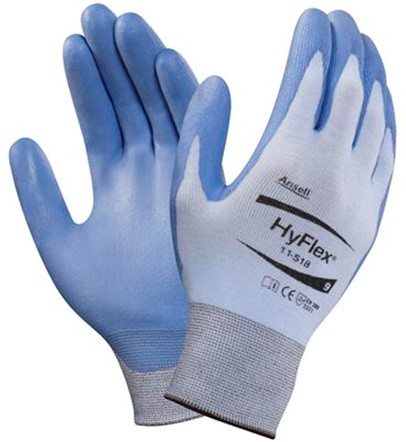Ansell HyFlex 11-518 Handschoen Blauw 8