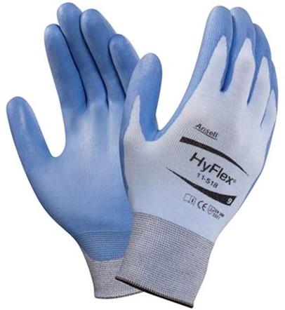 Ansell HyFlex 11-518 Handschoen Blauw 10