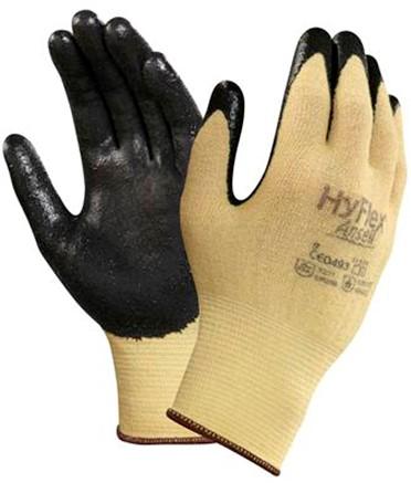 Ansell HyFlex 11-500 Handschoen Zwart/geel 8
