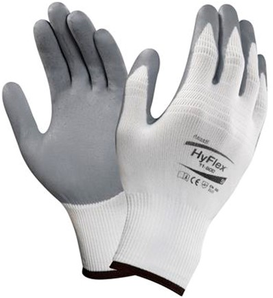 Ansell HyFlex 11-800 Handschoen Grijs/wit 7