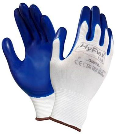 Ansell HyFlex 11-900 Handschoen Blauw/wit 8