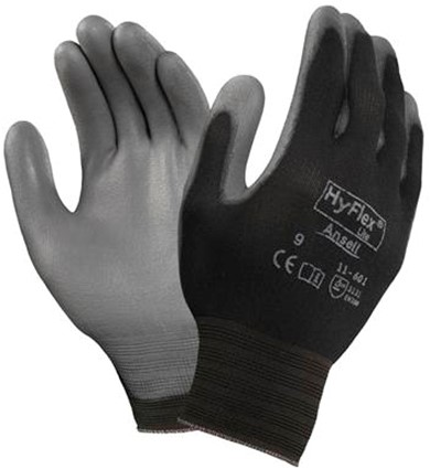 Ansell HyFlex 11-601 Handschoen Grijs/zwart 8