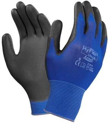 Ansell HyFlex 11-618 Handschoen Zwart/blauw 8