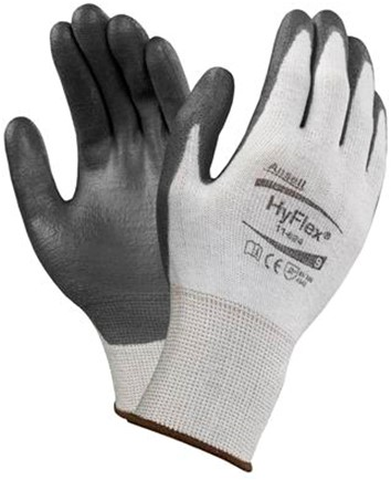 Ansell HyFlex 11-624 Handschoen Zwart/grijs 7