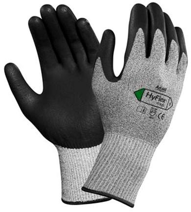 Ansell HyFlex 11-435 Handschoen Zwart/grijs 9