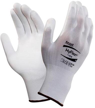 Ansell HyFlex 11-619 Handschoen Wit 8