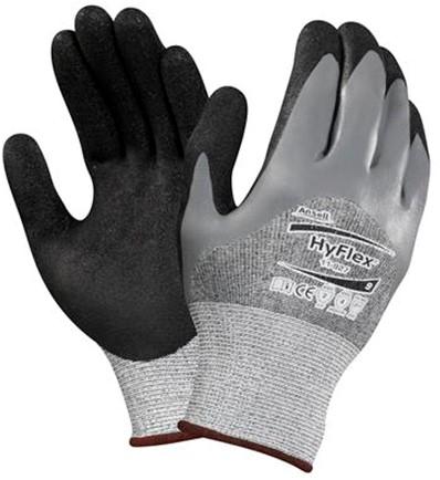 Ansell HyFlex 11-927 Handschoen Zwart/grijs 11