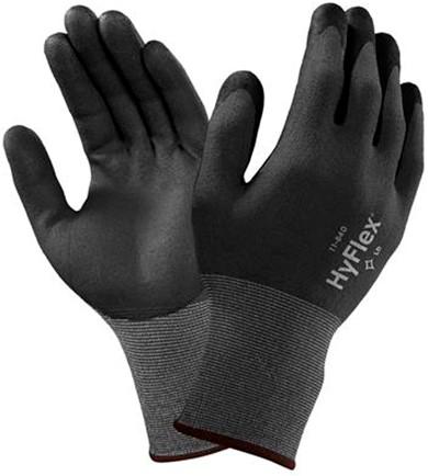 Ansell HyFlex 11-840 Handschoen Zwart/grijs 6