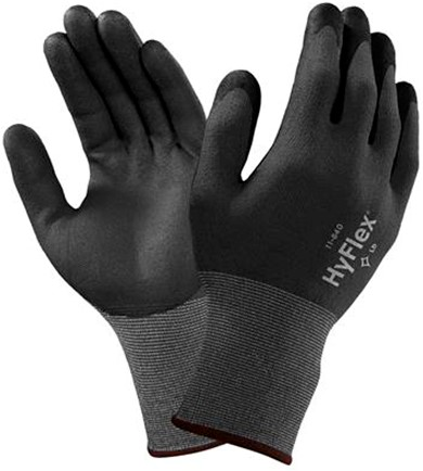 Ansell HyFlex 11-840 Handschoen Zwart/grijs 8