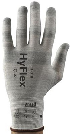 Ansell HyFlex 11-318 Handschoen Grijs 6